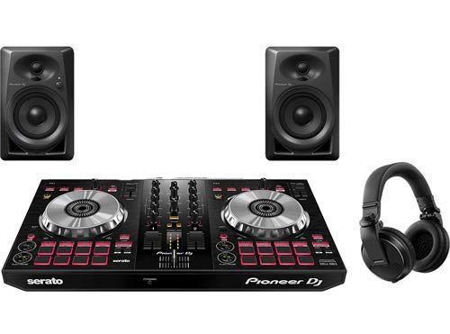Pioneer Pro DJ Bundle with DDJ-SB3 + DM-40 Set + HDJ-X5 Headphones