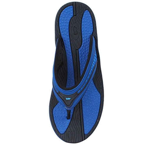 Gold Pigeon Shoes GP5803 Men Women Outdoor Water Flip Flops With Breathable Upper, Lite Arch Support 8508 Blue