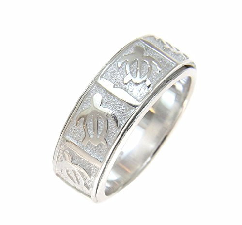 Sterling silver 925 Hawaiian honu turtle spin spinning ring size ()