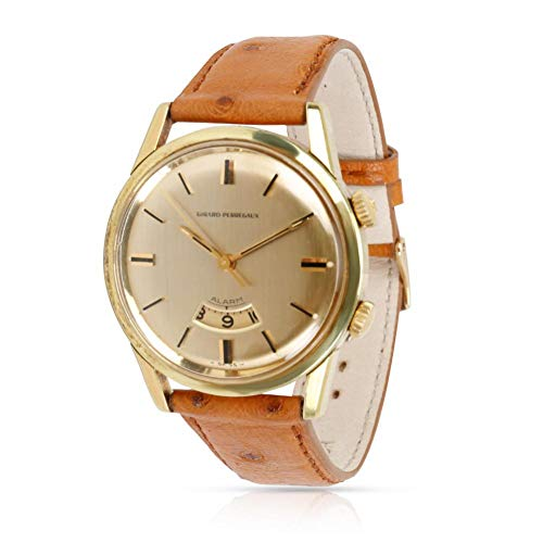 Perregaux Vintage Girard Watch Wrist - Girard Perragaux Alarm Mechanical-Hand-Wind Male Watch 7742 (Certified Pre-Owned)