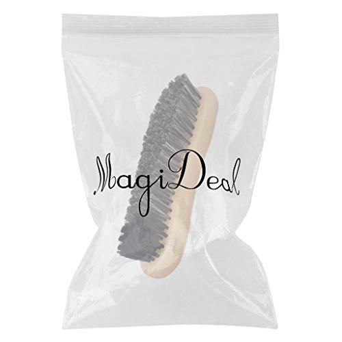 MagiDeal Cepillo de Zapato Crin con Mango de Madera Marrón Arranque Accesorios Deportes