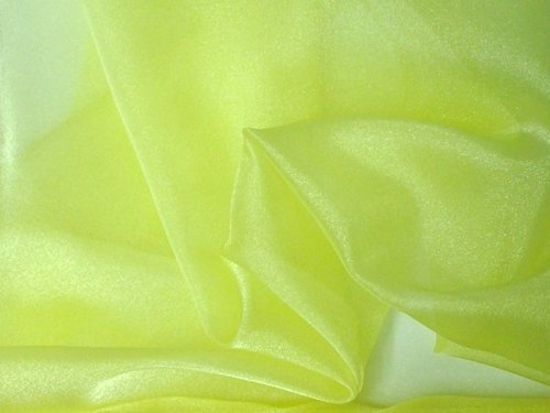 Sparkle Organza Fabric (Sparkle Organza Fabric -Yellow, 60