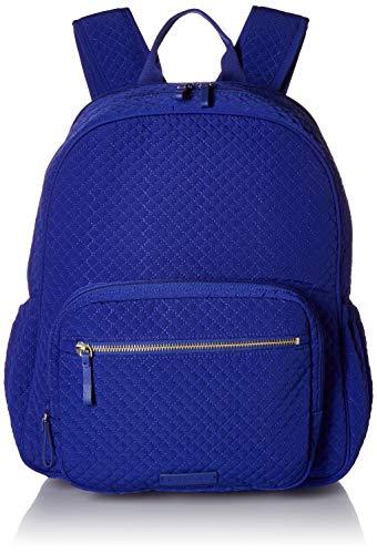 Vera Bradley Women's Microfiber Backpack Baby Diaper Bag, Gage Blue, One Size