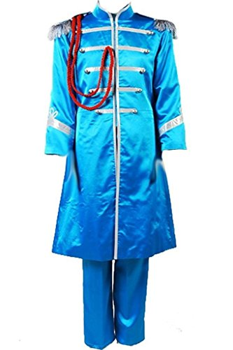 The Beatles Costume Sgt. Pepper's Lonely Hearts Club Band Cosplay Outfit Suit Jacket Blue/Green/Orange/Red - Sgt Pepper Costume Yellow