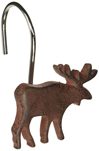 Park Designs Moose Shower Curtain Hooks (Set of 12)
