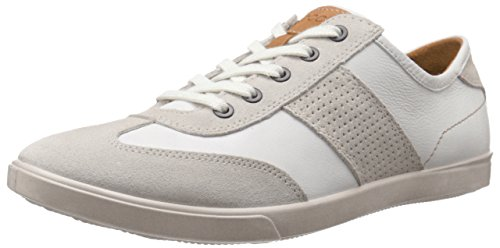 ECCO Mens Collin Retro Fashion Sneaker Gravel/White t7Tx1