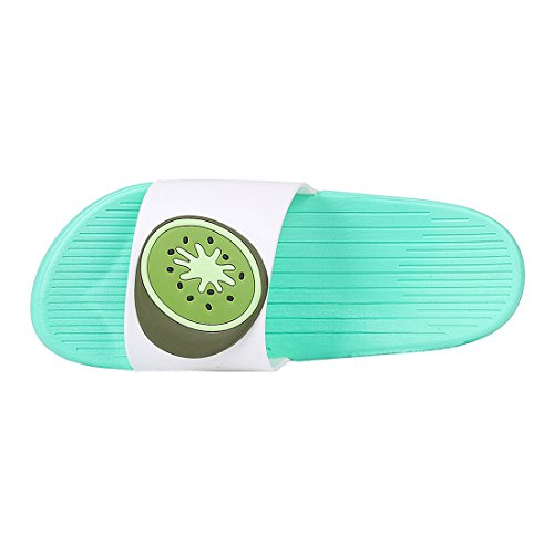 Colorful Slippers Kids and Shoes Beach Kiwi for Shower Fruit Sandals Green Adults Cute Bath w6qxSEFF