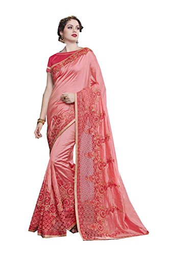 Indianfashion Store Indian Sarees For Women Wedding Peach Designer Party Wear Traditional Sari by Indianfashion Store