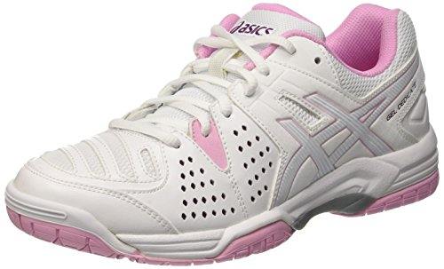 Asics Gel-Dedicate 4 W, Chaussures de Tennis Femme Multicolore (White/Cotton Candy/Plum)