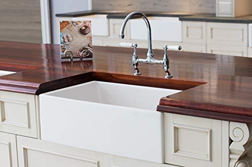 Farmhouse Kitchen Mayfair SW1 30 Inch Kitchen Farmhouse Sink – Fireclay. White. farmhouse kitchen sinks