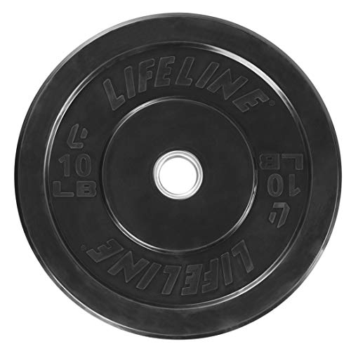 Lifeline Rubber Bumper Plates-  Weight Coaching, Strength and Conditioning Exercises, Weightlifting and Cross Coaching.  Low Odor – DiZiSports Store