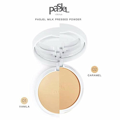 Pasjel Milk Pressed Powder With Fluffy Milk Body Technology No.1 (Vanilla) by Pasjel by Pasjel