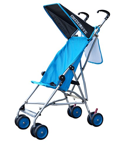 BeBeLove Single Umbrella Stroller with mesh pocket and canopy (SEA Blue)