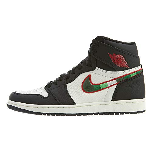 Jordan Air 1 High Og (Black/Varsity Red-University B, 10.5) ()