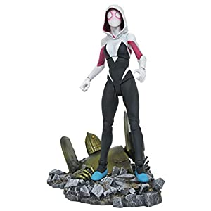 41MCcjhfRLL. SS300 Entertainment Earth Marvel Select Spider-Gwen Action Figure, Brown