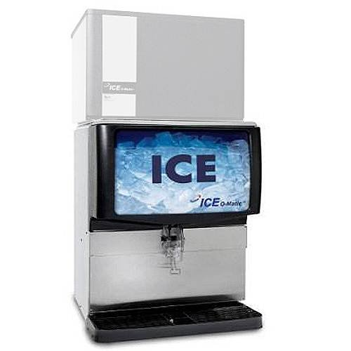 Ice-O-Matic IOD250 Countertop Ice Dispenser with 250 lb Storage Capacity (Ice Machine not included) by Ice-O-Matic