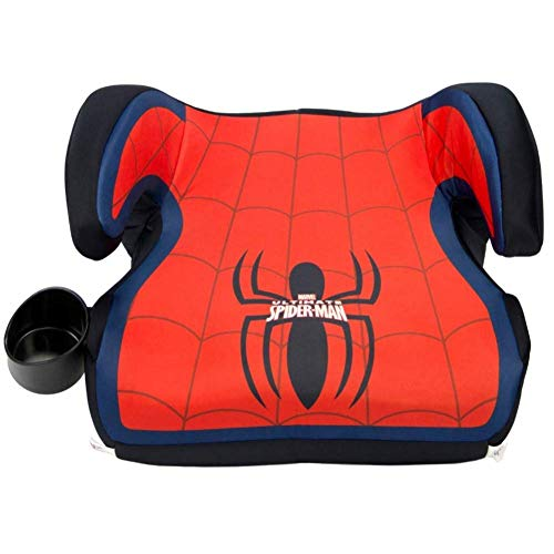 KidsEmbrace Spider-Man Booster Car Seat, Marvel Youth Backless Seat, Red