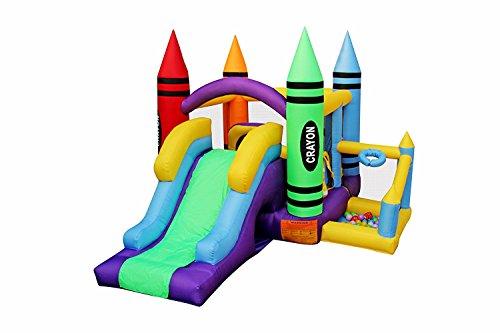 RetroJump Inflatable Bounce Bouncer Slide Play Jump House Kingdom Castle with (Kingdom Bounce House)