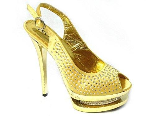 SKOS - Sandalias de vestir de Material Sintético para mujer - Gold (838)
