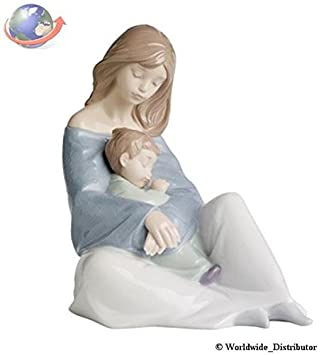 Nao by Lladro Collectible Porcelain Figurine THE GREATEST BOND – 7 1 4 tall – mother and child