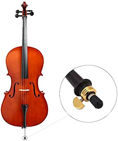 Futheda 2Pcs Rubber Tip for Cello Endpin Replacement Antiskid Caps Portable Cello Anti-slip End Pin Cap Protector for Cellist Musical Stringed Instruments Parts Black
