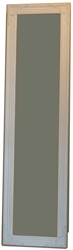 姿見 姿見鏡 JHAアンティークミラー クラッシック(ホワイト色)W400×H1500(面取り加工) IE-90スタンド鏡 スタンドミラー B01EDVDDPA