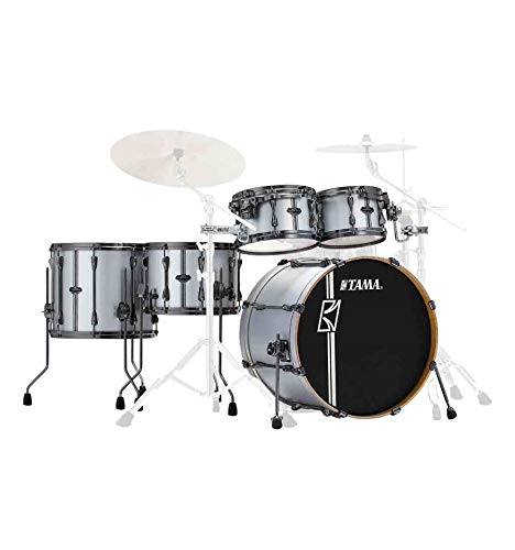 Tama Superstar Hyper-Drive Duo 5-Piece Shell Pack - Satin Silver Vertical Stripe
