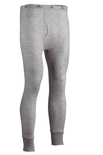 Thermal Hydropur - Indera Men's Tall Two-Layer Performance Thermal Underwear Pant with Silvadur, HeatherGrey, Large