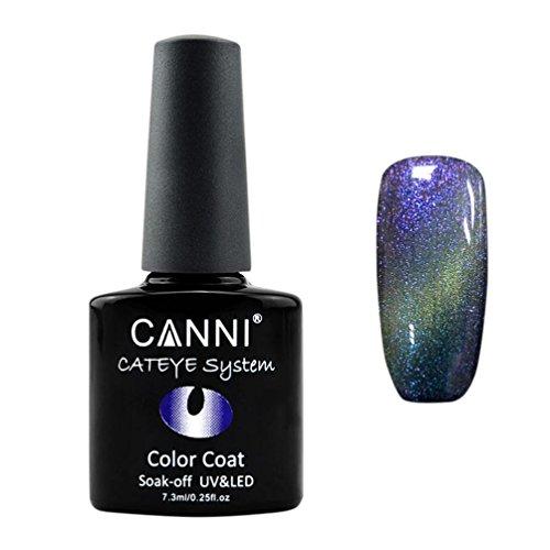 Nail Polish,NOMENI 7.3ml nail cat design color UV UV / LED Chameleon Cat eye Glue B