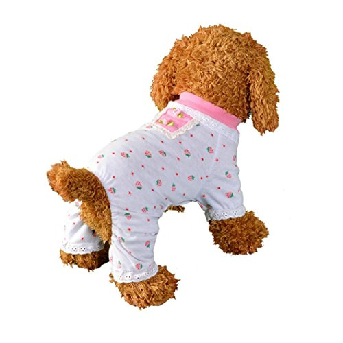 Binmer(TM)) Unisex Pet Clothes for Small Dog,Puppy Dog Cat Vest Tracksuit Pajamas Coat Dress Sleepwear Apparel (M) (Dog Tracksuit)
