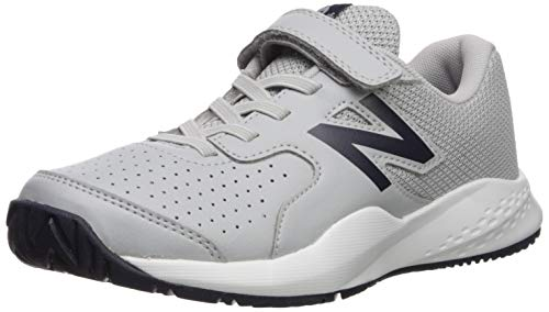 New Balance Boys' 696v3 Hard Court Running Shoe, Aluminum/Pigment, 3 M US Little Kid
