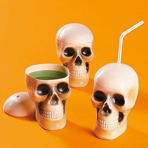 Spooky Skull Drinking Cups ( 1 dz)