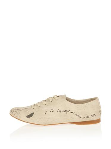 donna Paws Cute stringate Scarpe beige Crema crema qHddtzrW