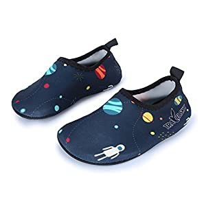 JIASUQI Kid's Athletic Sneakers Water Shoes For Beach Running Surf Boating,Navy US 6-7 M Toddler