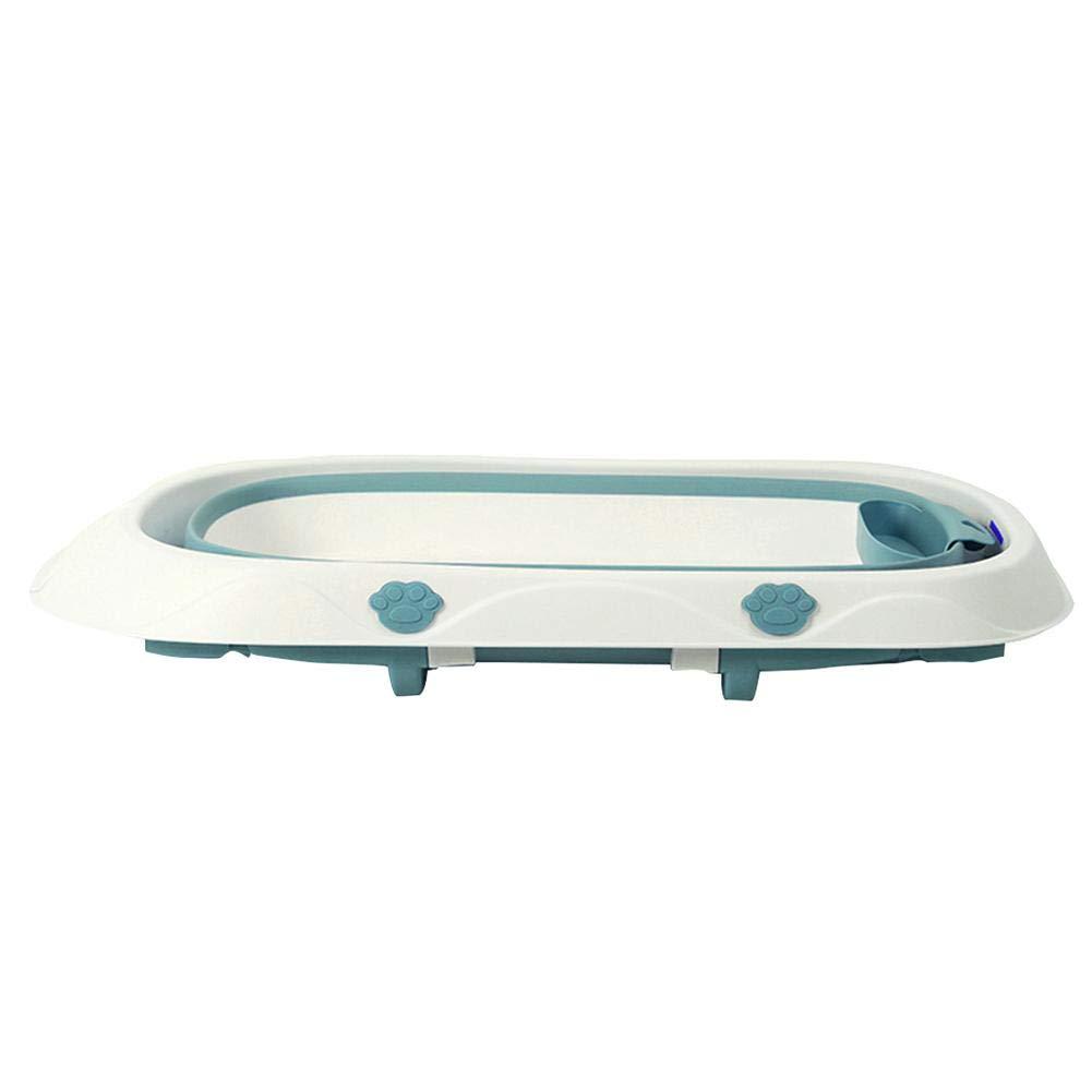 Infant Folding Bathtub Portable Collapsible Nonslip Space-Saving Self-Standing Baby Care Wash Basin Tub Washbasin Children Infant Shower Accessory Purple