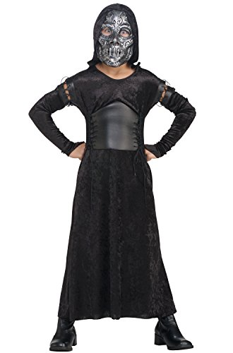 Harry Potter And The Deathly Hallows, Child's Female Death Eater Bellatrix Costume And Mask ()