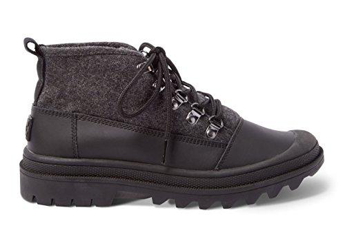 Toms Cordova Boots Black Wool 10007388 Women's 8