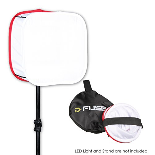 Kamerar D-Fuse Large LED Light Panel Softbox - Foldable, Portable Diffuser, Carrying Bag, Strap Attachment, Photography, Photo Video, DF-1LW, White