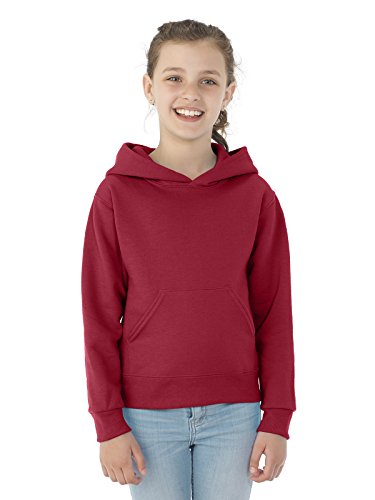 Jerzees Nublend Youth Pullover Hooded Sweatshirt (Crimson) (XL) -
