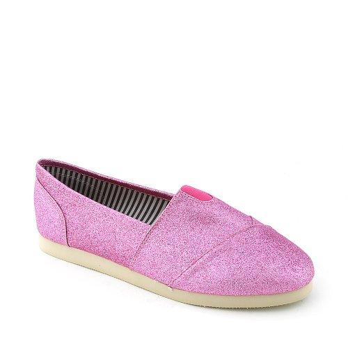 Shiekh Mujeres Object-s Casual Flat Pink Glitter