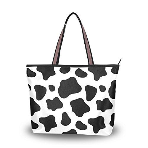 Cooper girl Cow Print Tote Bag Top Handle Handbag Shoulder Bag Large Capacity