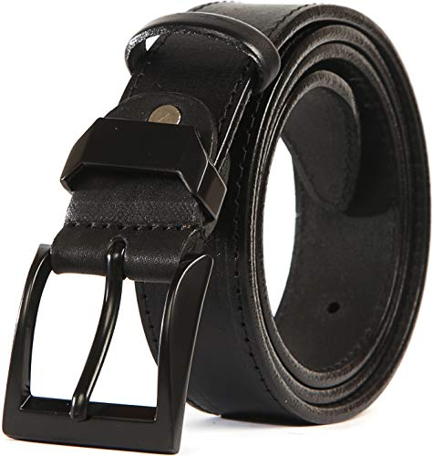 Heavy Duty Full Grain Leather Belt - 100% Thick Solid Cow Leather. Durable and strong. (XXL>>46-50