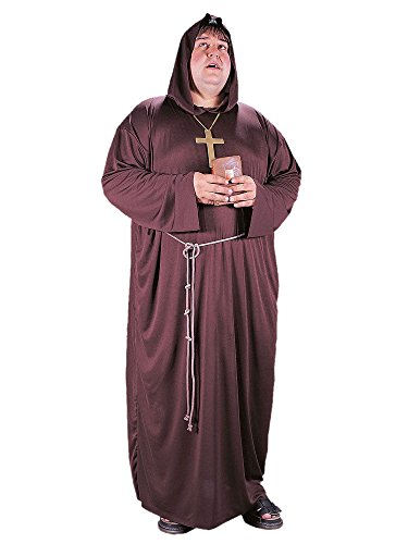 Friar Tuck Monk Costumes (Monk Costume - Plus Size - Chest Size 48-53)