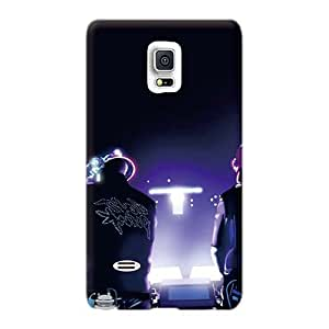 Scratch Resistant Cell-phone Hard Cover For Samsung Galaxy Note 4 With Provide Private Custom High Resolution Music Daft Punk Pictures CharlesPoirier