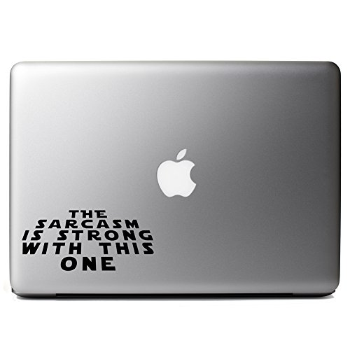 Star Wars Parody The Sarcasm Is Strong With This One Funny Vinyl Sticker Laptop iPhone Cell Decal