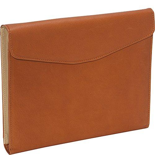 Piel Leather Envelope Padfolio, Saddle, One Size