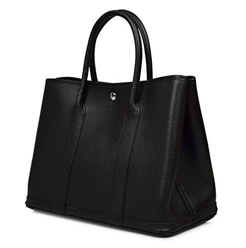 Esyuel Women's Genuine Leather Garden Tote Bag Top Handle Handbags(36CM) - Handbag Handle Tote