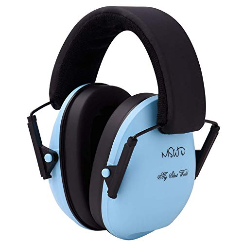 Baby Noise Cancelling Headphones Hearing Protection  Ear Muffs - Adjustable Headband Baby Ear Protection Soundproof Ear Defenders for Children Infants from 3 Months to 12 Years, Blue