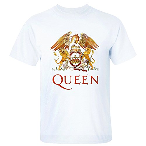 YATENG Queen Crest Men's T Shirt Short Sleeves white XXL ()