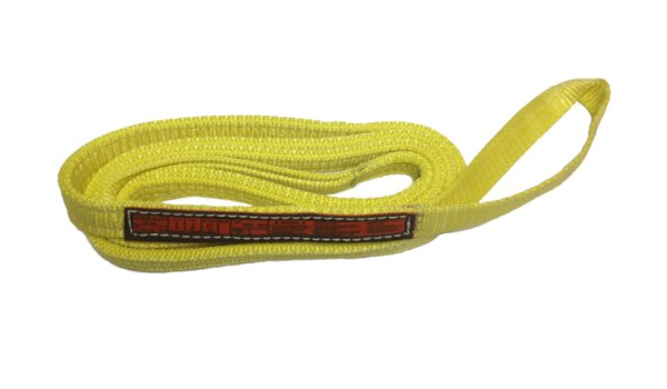 2 Ply 12,000 lbs Vertical Load Capacity Stren-Flex EET2-904CW-12 Type 4 Heavy Duty Nylon Twisted Eye and Eye Completely Wrapped Web Sling 12 Length x 4 Width Yellow